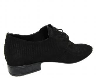 Мъжки официални обувки черни естествен велур 3