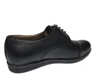 Мъжки обувки- Гигант  естествена кожа черни