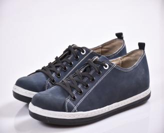 Мъжки обувки тъмно сини набук