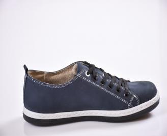 Мъжки обувки тъмно сини набук 3