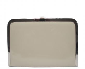 Абитуриентска чанта еко кожа/лак бежова