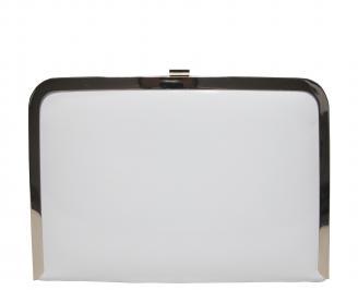 Абитуриентска чанта еко кожа/лак бяла