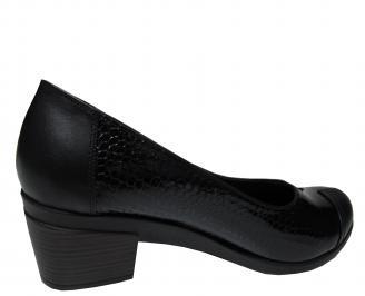 Дамски обувки-Гигант естествена кожа черни 3