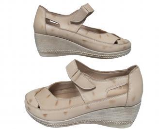 Дамски обувки-Гигант естествена кожа бежови