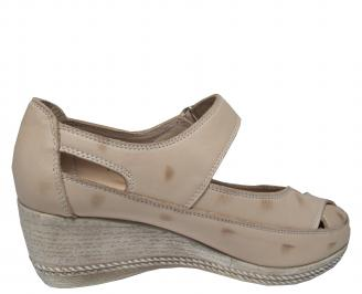 Дамски обувки-Гигант естествена кожа бежови 3