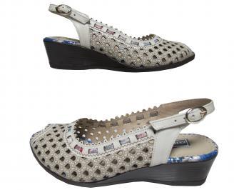 Дамски сандали -Гигант естествена кожа бежови