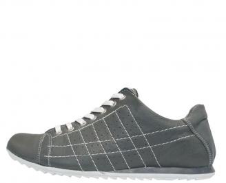 Мъжки спортни обувки  естествена кожа сиви