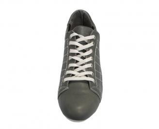 Мъжки спортни обувки  естествена кожа сиви 3