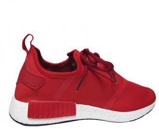 Мъжки спортни обувки червени текстил
