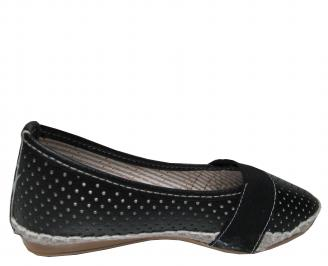 Дамски равни обувки еко кожа черни