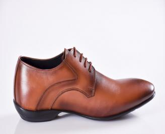 Мъжки официални обувки естествена кожа кафяви 3