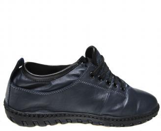 Мъжки обувки тъмно сини естествена кожа