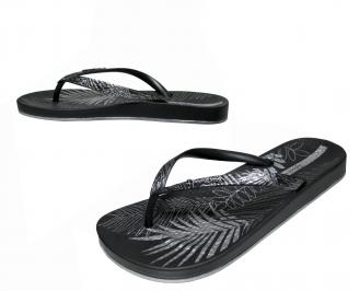 Дамски равни силиконови чехли Ipanema черни