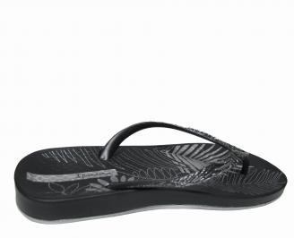 Дамски равни силиконови чехли Ipanema черни 3