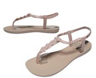 Дамски равни силиконови сандали Ipanema бежови