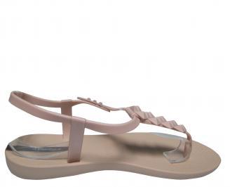 Дамски равни силиконови сандали Ipanema бежови 3