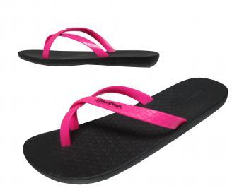 Дамски равни силиконови чехли Ipanema черно/розово