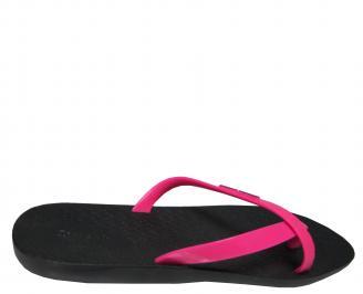 Дамски равни силиконови чехли Ipanema черно/розово 3