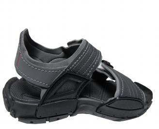 Юношески равни сандали Rider черни 3