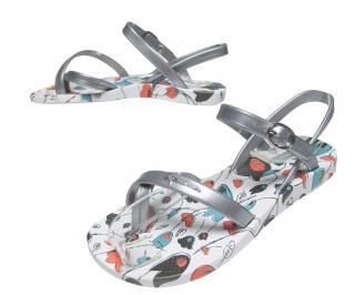 Детски  равни силиконови сандали Ipanema сребристи