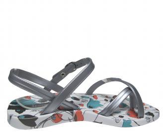 Детски  равни силиконови сандали Ipanema сребристи 3
