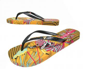 Дамски равни силиконови чехли Ipanema шарени