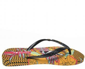 Дамски равни силиконови чехли Ipanema шарени 3