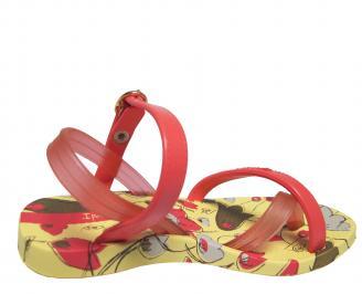 Детски равни силиконови сандали Ipanema шарени 3