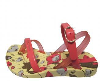 Детски равни силиконови сандали Ipanema шарени