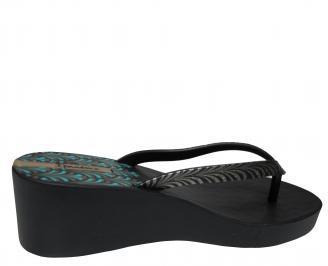 Дамски  силиконови чехли на платформа Ipanema черни 3