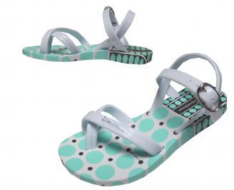 Бебешки  равни силиконови сандали Ipanema сребристи