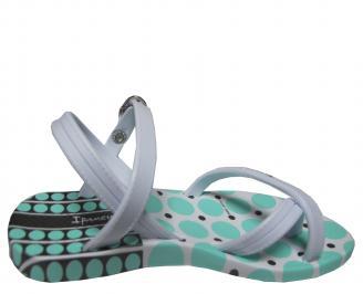 Бебешки  равни силиконови сандали Ipanema сребристи 3