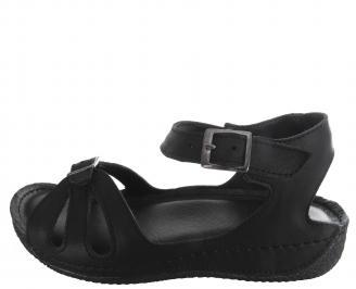 Дамски сандали Гигант черни естествена кожа