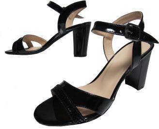 Дамски елегантни сандали еко кожа/лак черни