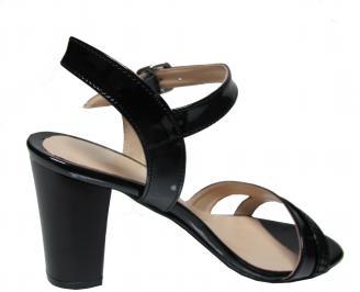 Дамски елегантни сандали еко кожа/лак черни 3