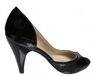 Дамски елегантни обувки еко кожа/лак черни 3