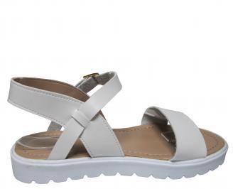 Дамски равни сандали еко кожа бели 3