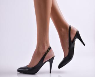 Дамски елегантни сандали черни еко кожа