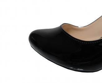Дамски елегантни сандали черни еко кожа 3