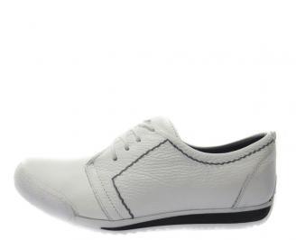Спортни обувки мъжки естествена кожа бели