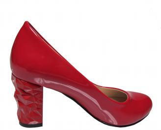 Дамски елегантни обувки еко кожа/лак червени