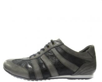 Спортни обувки мъжки естествена кожа черни