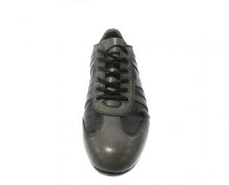 Спортни обувки мъжки естествена кожа черни 3