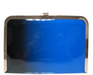 Абитуриентска чанта еко кожа/лак синя