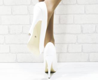 Дамски елегантни обувки еко кожа бели 3