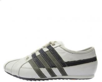 Спортни мъжки обувки естествена кожа бели