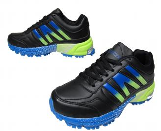 Юношески спортни обувки Bulldozer еко кожа черни
