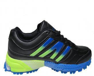 Юношески спортни обувки Bulldozer еко кожа черни 3