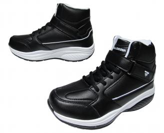 Юношески обувки Bulldozer еко кожа черни