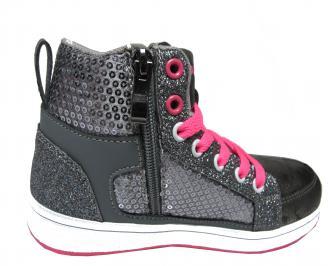 Детски обувки Bulldozer еко кожа сиви 3